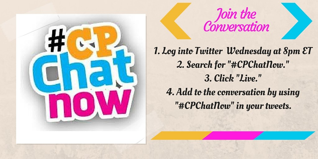 Instructions to join the live weekly Twitter chat #CPChatNow.