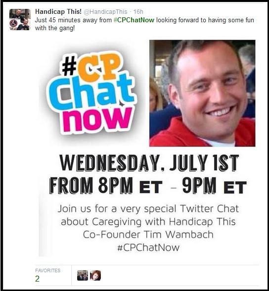 45 Minutes Until #CPChatNow Caregiving Focus Chat