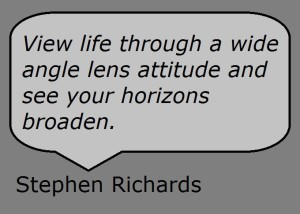 Widen your horizons quote from Stephen Richards