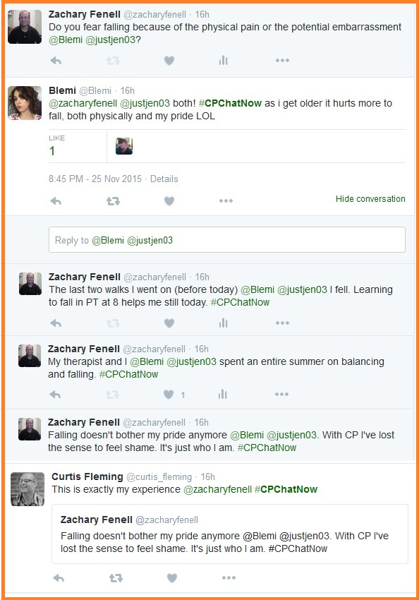 #CPChatNow discusses falling.