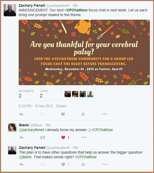 #CPChatNow November focus chat announcement