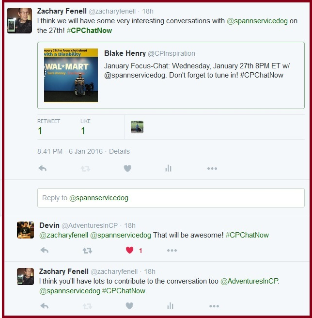 The #CPChatNow community discusses the upcoming focus chat.