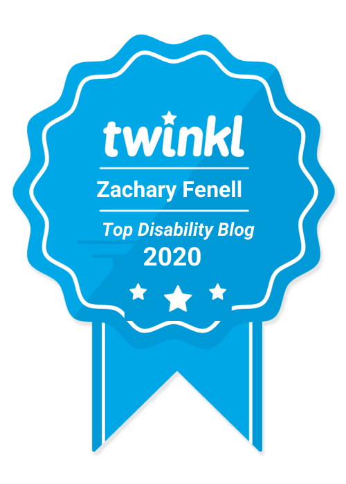 zacharyfenell.com is a top disability blogger, according to twinkl.